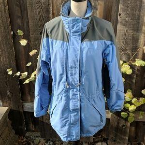 Columbia ski jacket light blue